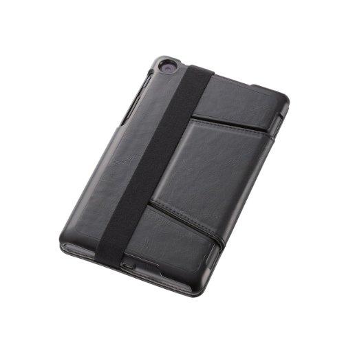 ELECOM 新型Nexus7 2013年モデル 対応 レザーカバー フラップ付4段階 ブラック TB-ASNXAPLF2BK