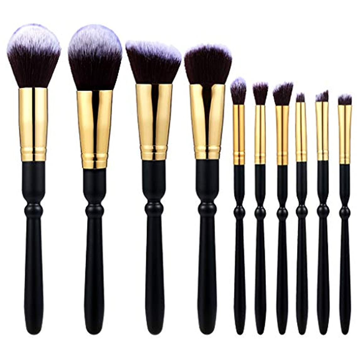 航海机ハンディキャップAkane 10本 美感 上等 優雅 ブラック 綺麗 たっぷり 多機能 便利 高級 魅力的 柔らかい おしゃれ 激安 日常 仕事 Makeup Brush メイクアップブラシ TMB10-2021