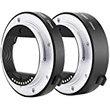 Neewer Metal AF Auto-Focus Macro Extension Tube Set 10mm&16mm for Sony NEX E-Mount Camera NEX 3/3N/5/5N/5R/A6000/A6300 and Fu
