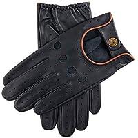 Dents Delta Leather Driving Gloves Medium Navy Tan