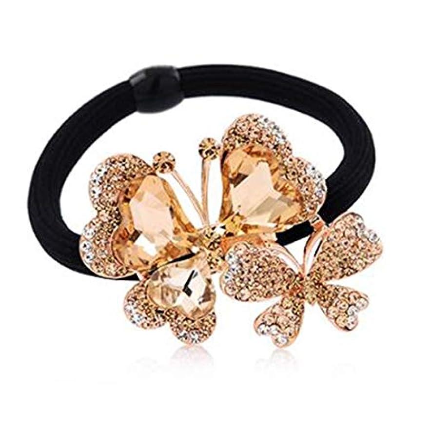 ヘアクリップ、ヘアピン、ヘアグリップ、ヘアグリップ美しいヘアアクセサリー弓髪バンドヘッドネクタイ髪髪バンドヘッド花飾りA0228ブルー、パープル、ローズレッド (Color : Gold, Size : 5.0*4.0cm)