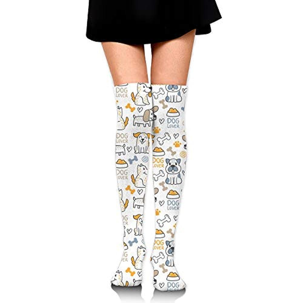 なめらかな予測する発見するニーソックス 落書き犬 タイハイストッキング パンティストッキング ハイソックス ルーズソックス ストッキング ニーハイタイツ 履きやすい 美脚 防寒 おしゃれ 可愛い 無地 シンプル 暖か レディース 靴下膝丈 60Cm