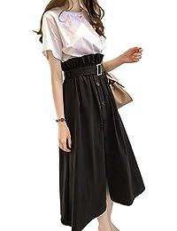 [Juale] セットアップ スカート ワンピース レディース 春夏 半袖 Tシャツ 上下セット