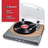 ION Audioワイヤレス Bluetooth レコードプレーヤー 【スピーカー内蔵/RCA出力端子/ヘッドフォン端子/USB端子/外部入力端子/オートリターン機能】天然木仕上げ Premier LP Natural