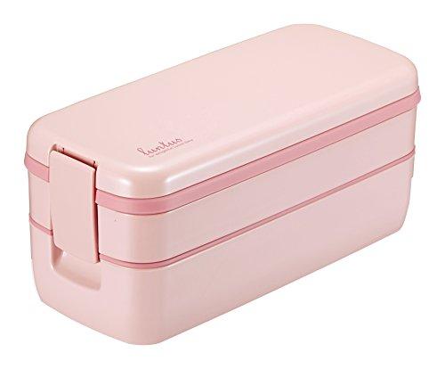 アスベル ランチボックス2段 「ランタスFL」 ピンク SS-T640