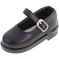 Dovewill  1/4 スケール BJD人形適用 ドール ファッション  PUレザー  靴 全7色選ぶ  - ブラック
