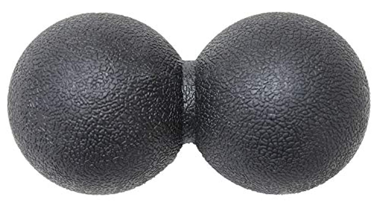 ショートカット凝視地理KaRaDaStyle マッサージボール ストレッチボール リセットボール トリガーポイント ピーナッツ型 (ブラック)