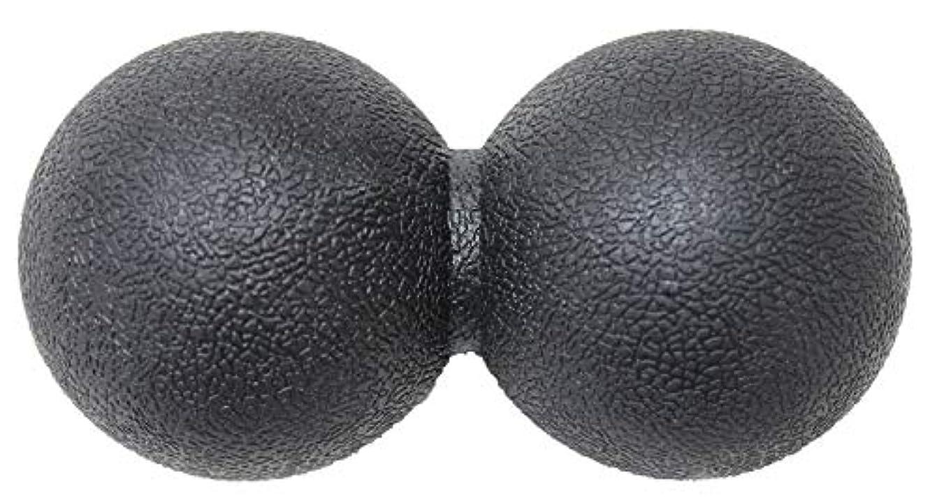 薬用め言葉手のひらKaRaDaStyle マッサージボール ストレッチボール リセットボール トリガーポイント ピーナッツ型 (ブラック)