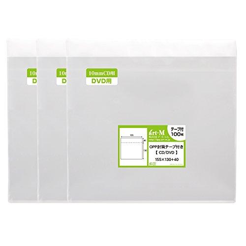 [해외]국산 테이프 부착 10mm 두께 CD   DVD 표준 용 · 3DS 용 투명 OPP 봉투 (투명 봉투) 300 매 30 미크론 두께 (표준) 155x130 + 40mm/300 mm transparent transparencies for 3DS (transparent envelope) 300 sheets 30 micron thickness (standard) ...