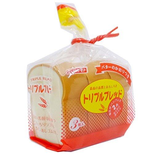 食パン[消しゴム]リアルパロディケシゴム/山型トリプルブレッド サカモト 景品 おもしろ雑貨 グッズ 通販