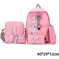 Fashion Women Backpacks 5 Set School Backpack Korean Design College School Bags for Teenage Girls Kids Schoolbag Shoulder Bag