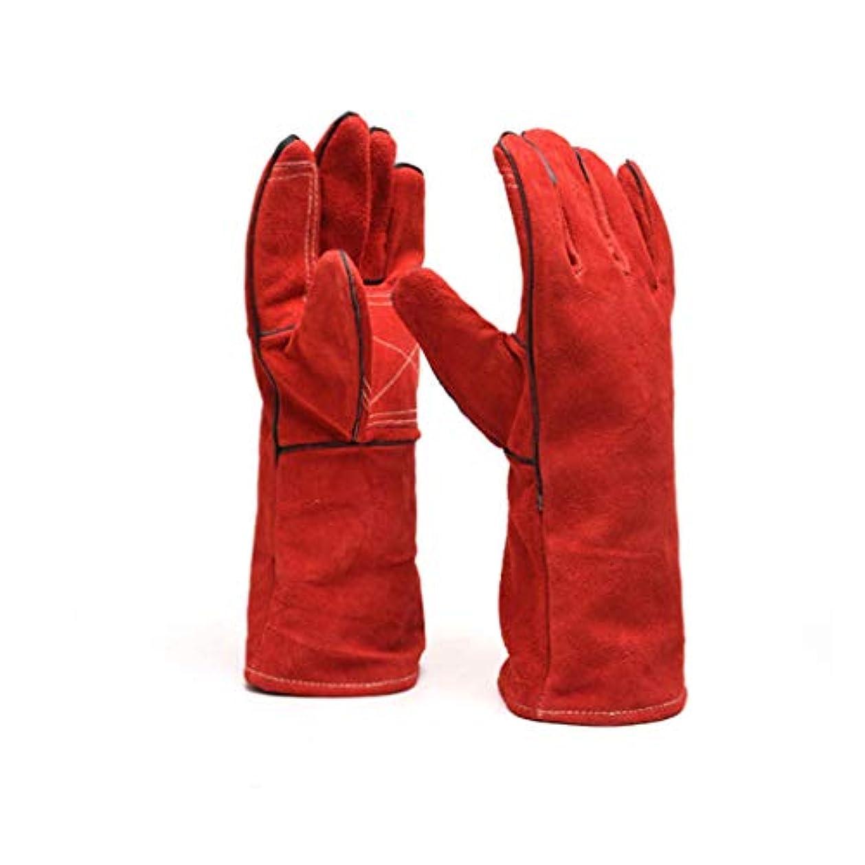 疑問に思う今晩切り離す溶接手袋、溶接機のガントレット反ホットアンチカッティングアンチトロン工業絶縁耐久性のある高温