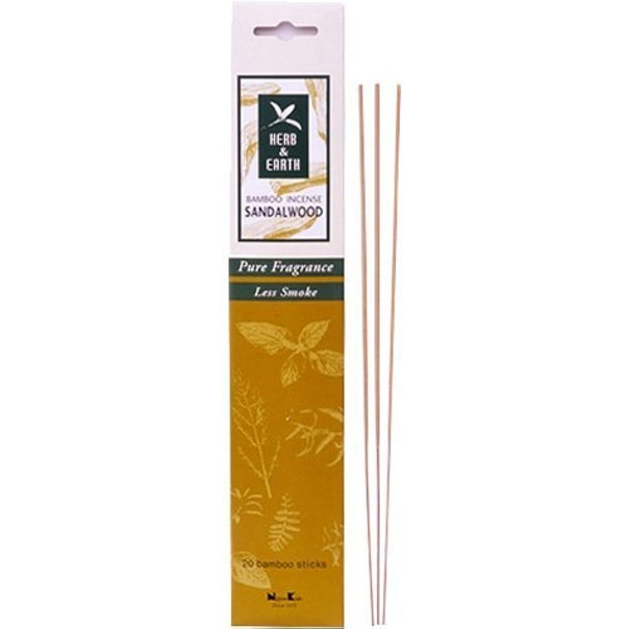 からに変化する利用可能湿度【X5個セット】 日本香堂 HERB & EARTH ハーブ&アース 「サンダルウッド」20本入