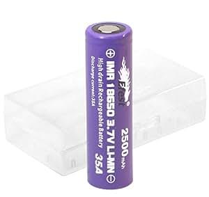 ■2014■【Efest IMR 18650 / 2500mAh Max35A バッテリー 付属】 電池ケース