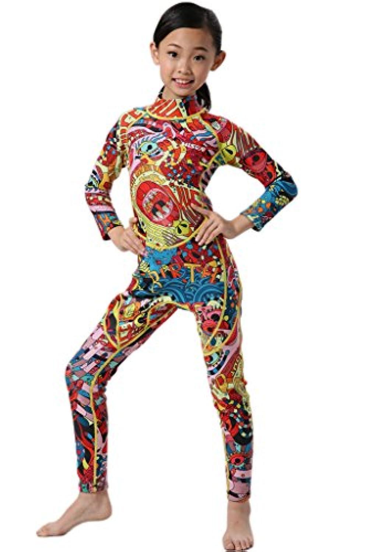 Cokar Kidsネオプレンウェットスーツ男の子女の子長袖ワンピース水着ダイビングスーツ
