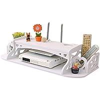セットトップボックスラックフリーパンチ - TVウォールルータストレージボックス、棚リビングルーム壁掛け
