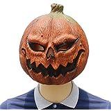 マスクカボチャ、マスク不気味なラテックスリアルクレイジーラバースーパー不気味なパーティーハロウィンコスチュームカボチャマスクのおもちゃ
