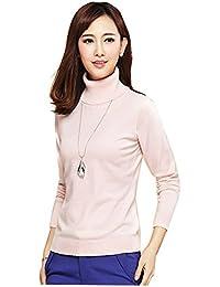 Shop358 レディース セーター タートルネック スリム 長袖 春 秋 冬 エレガンス ニット 防寒 全5色