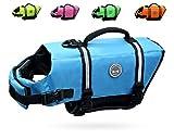 Vivaglory 犬用 ライフジャケット 耐久材料 犬用ライフ ベスト 救うハンドル 高浮力 反射ライン 安全な泳ぎを補助(S ブルー)