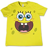 Officially Licensed Sponge Happy Face Unisex Kids T Shirts Ages 3-12 Years