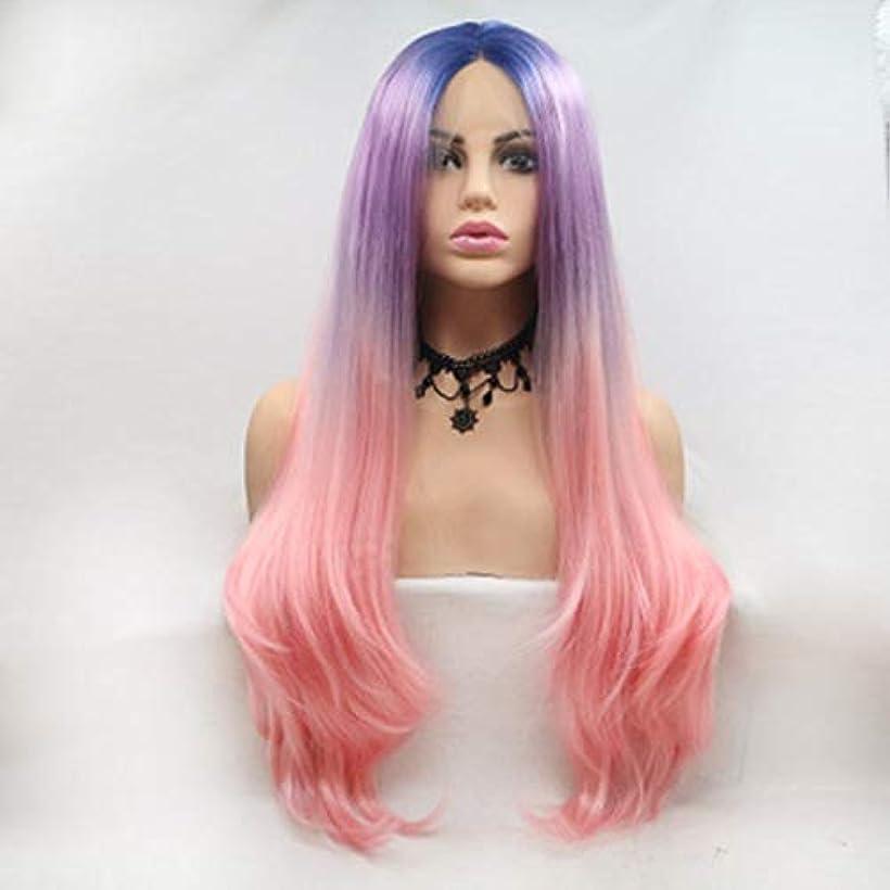 動脈パラメータ褒賞ヘアピース 女性ヨーロッパと米国のグラデーションレースファッション長い巻き毛のかつら