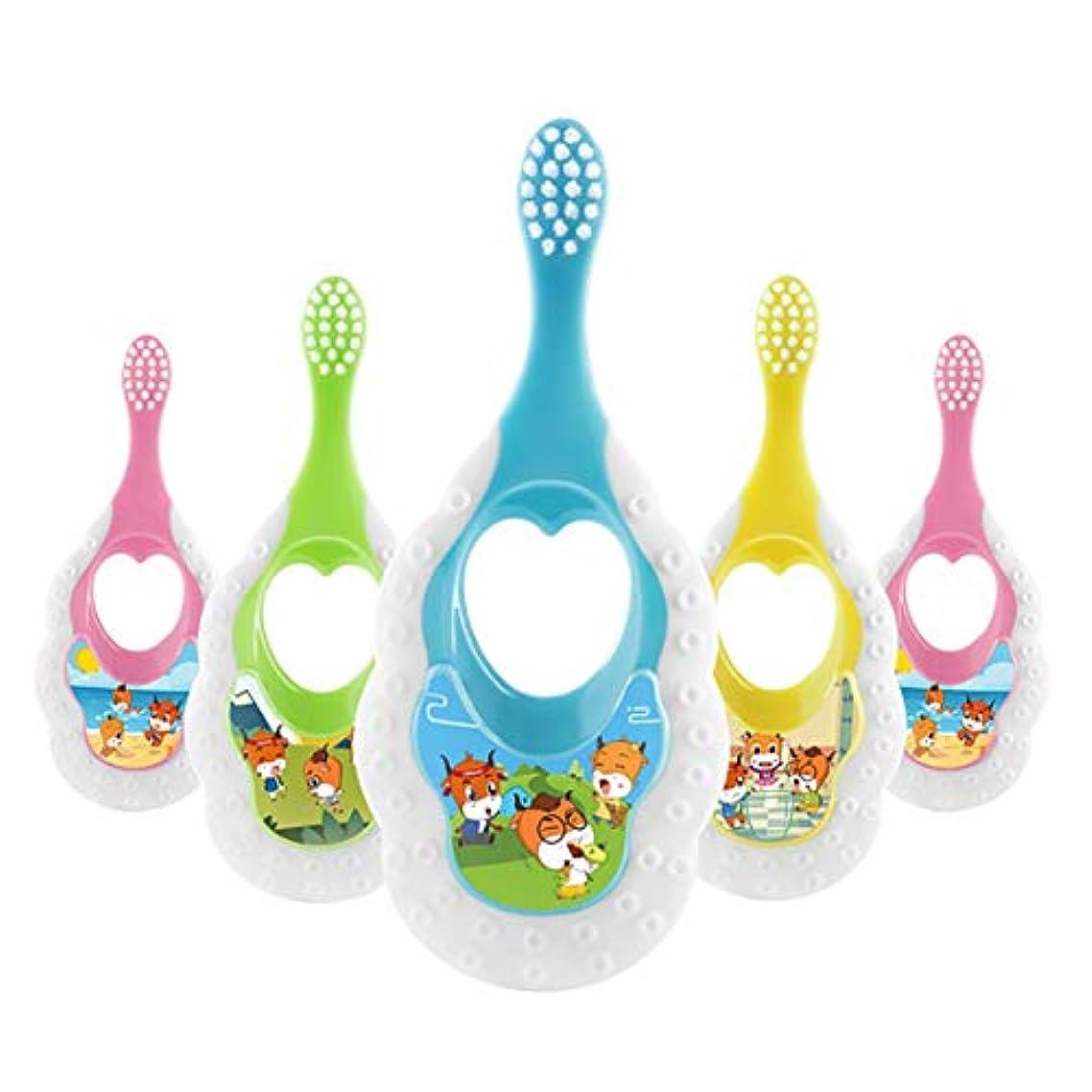 妖精凝縮するマチュピチュIntercoreyかわいいデザイン子供柔らかい髪歯ブラシ漫画パターン歯ブラシヘッド歯ブラシ用子供1-3歳