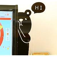 かわいい モニター メモボード 付箋管理 オフィス用品 (右側クマ )