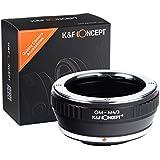 K&F Concept® マウントアダプター OMマウントレンズ-マイクロフォーサーズマウントボディ用 Olympus OMレンズ- Micro 4/3カメラ装着用レンズアダプター OM-M4/3