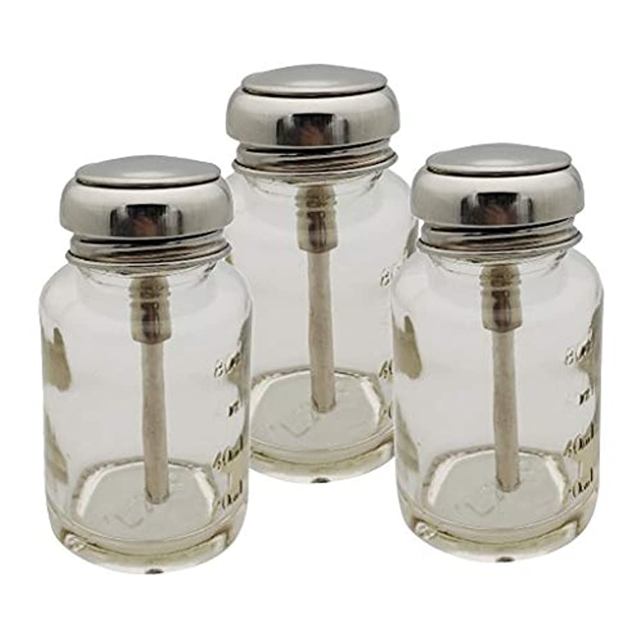 無効治世モンゴメリーPerfeclan ガラス ポンプディスペンサー ネイル ポンプボトル 容器 マニキュア液 メイク落とし 適用 3個入り