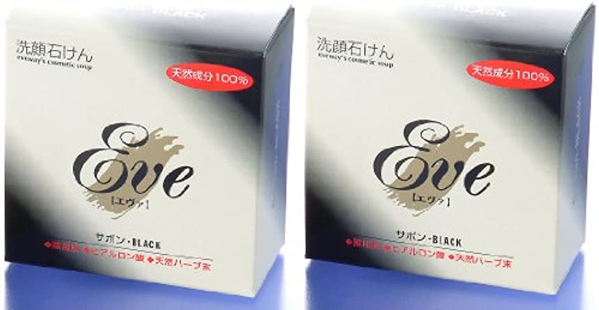 バンジョー拒否損失洗顔 化粧石鹸 サボンブラック 2個組 クレンジングの要らない石鹸です。