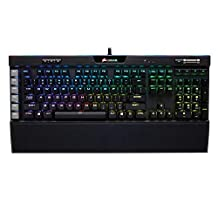CORSAIR K95 RGB PLATINUM Mechanical Gaming Keyboard - 6x Programmable Macro Keys - USB Passthrough & Media Controls - Tactile & Quiet - Cherry MX Brown – RGB LED Backlit
