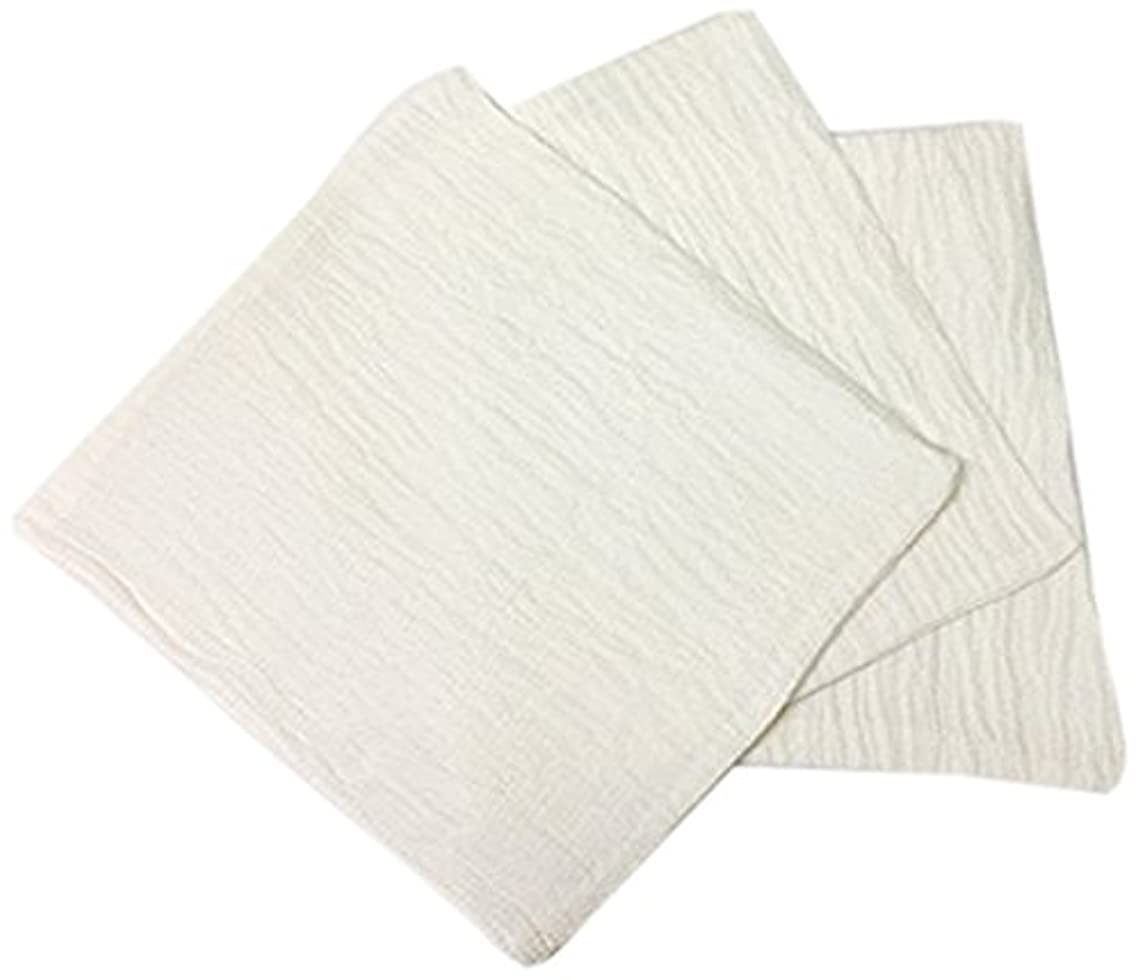 元気プラグ株式くーる&ほっと シルクを加えた ちょっと贅沢な シルク & レーヨン あかすり 袋タイプ 日本製(群馬県で製造)3枚 ホワイト