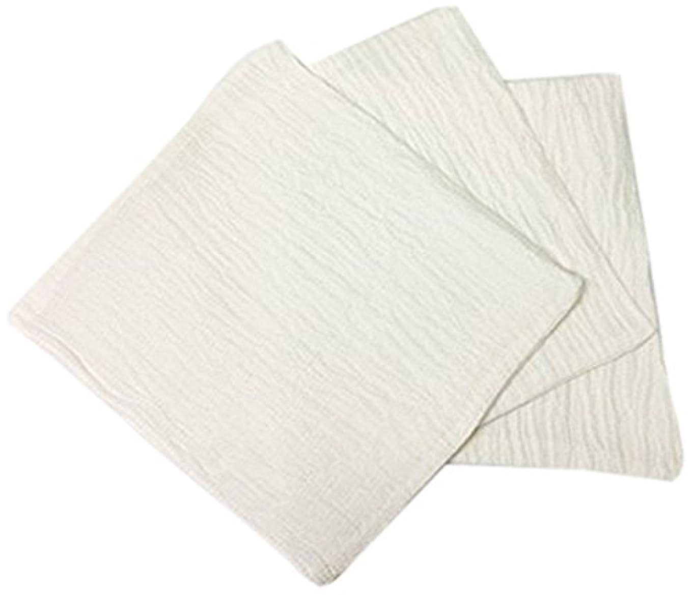 溶けた荒涼としたリーガンくーる&ほっと シルクを加えた ちょっと贅沢な シルク & レーヨン あかすり 袋タイプ 日本製(群馬県で製造)3枚 ホワイト