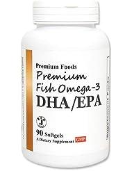プレミアム フィッシュオメガ-3(DHA/EPA) 90粒 [海外直送品]