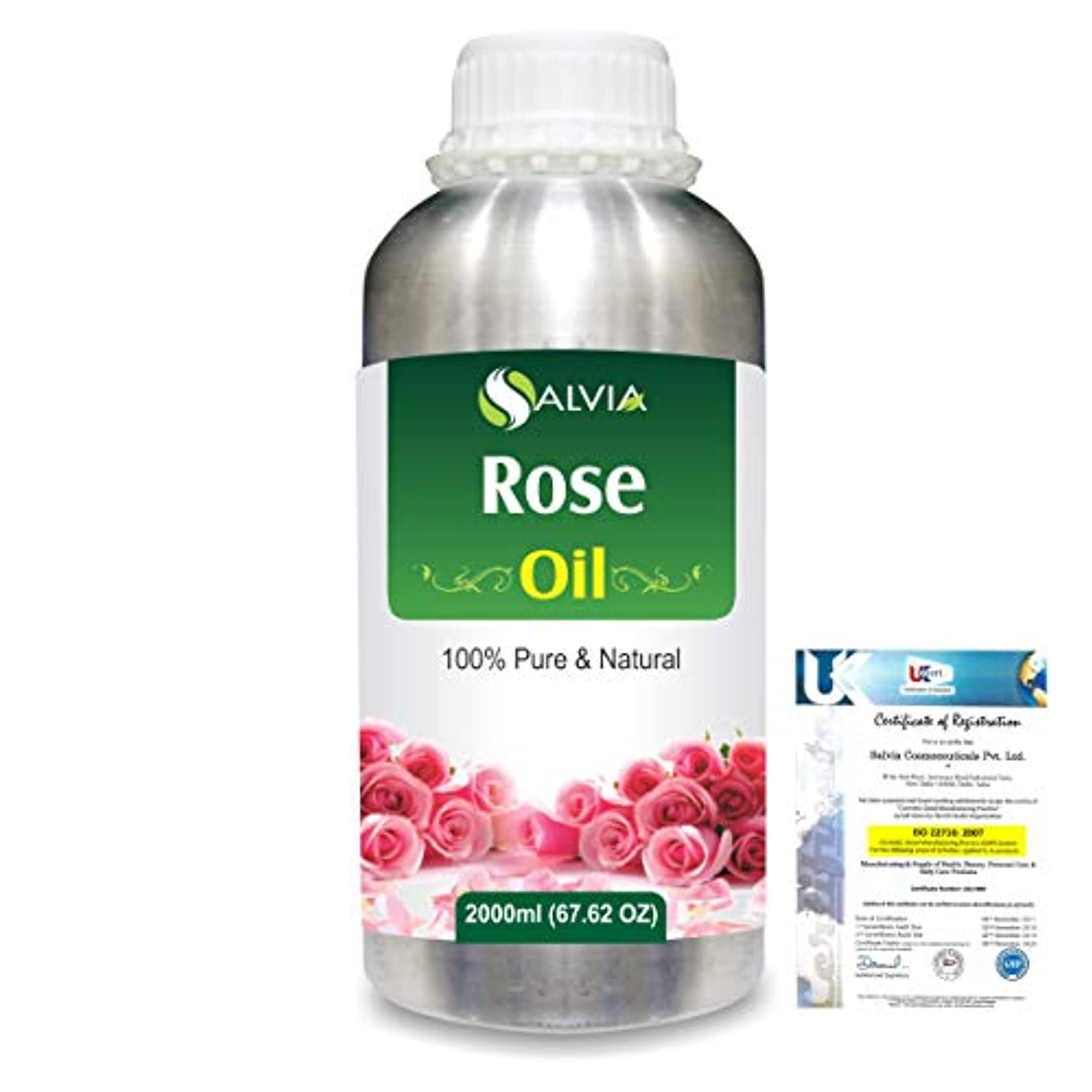 Rose (Rosa Damacenia) 100% Natural Pure Essential Oil 2000ml/67 fl.oz.