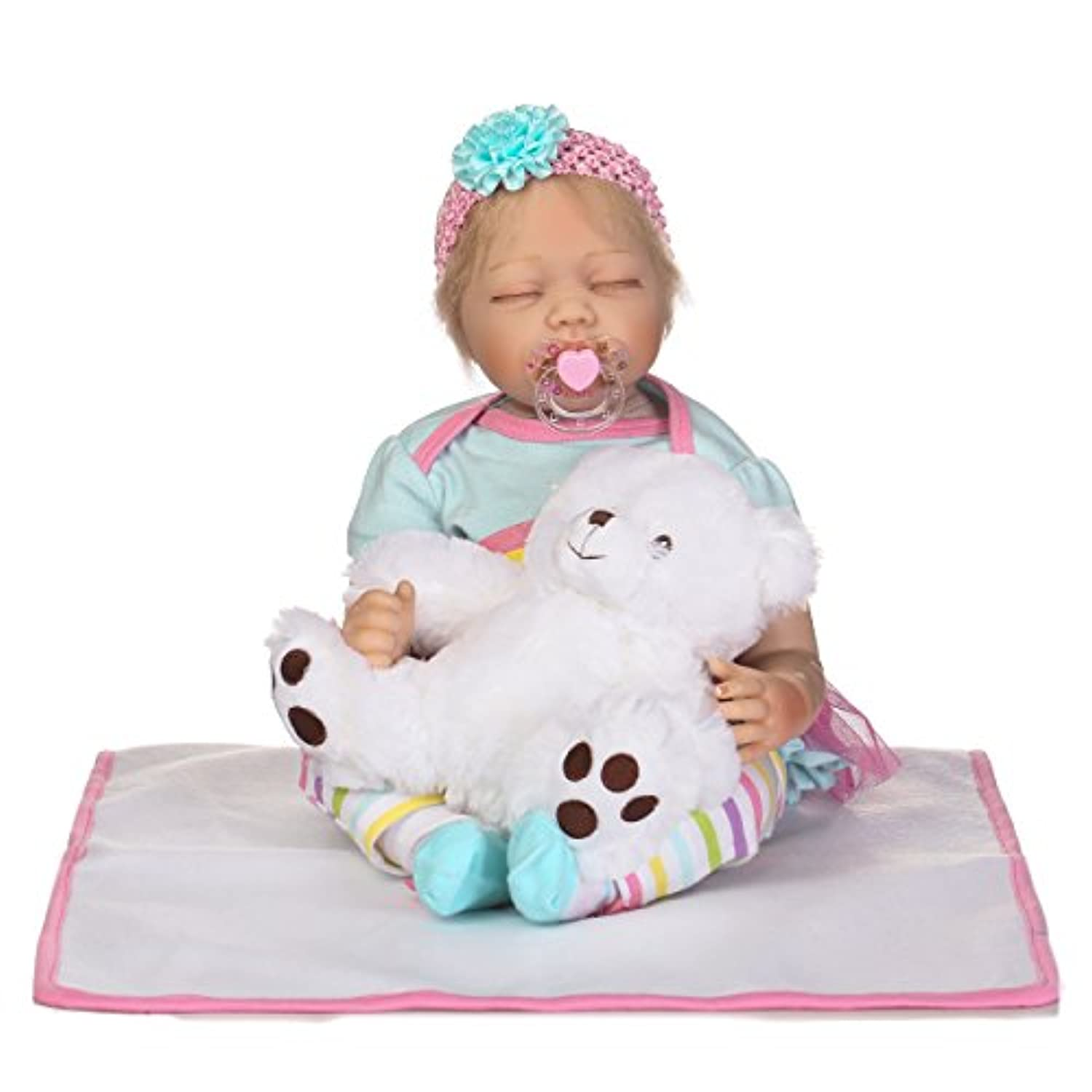 SanyDoll Rebornベビー人形ソフトSilicone 22インチ55 cm磁気Lovely Lifelike Cute Lovely Baby b0763lppxt