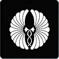 家紋シール 抱き菊紋 15cm x 15cm KS15-2858W 白紋
