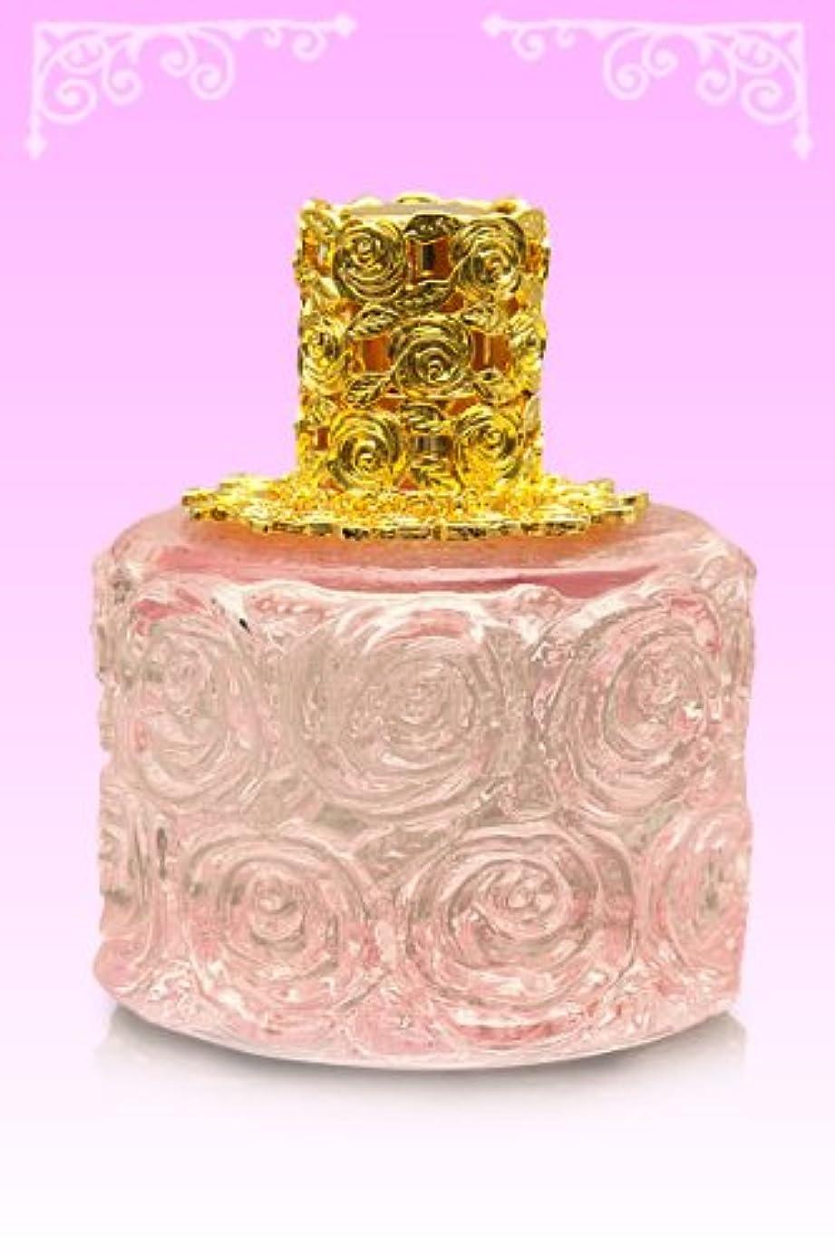 ヤング知人言語学【ノエルランプ】ミニローズランプ ピンク?ゴールド ランプベルジェ製アロマオイルでも使用可