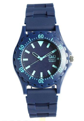 [シチズン キューアンドキュー]CITIZEN Q&Q 腕時計 カラフルウォッチ ラバー ネイビー ダイバーズデザイン メンズ レディース キッズ