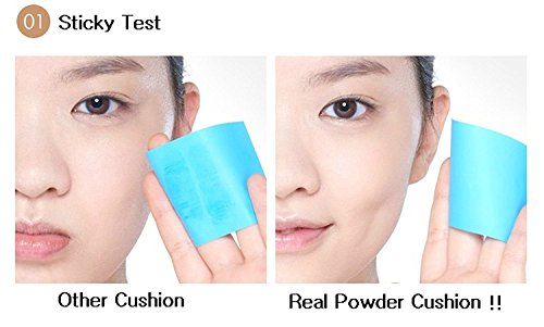 『ETUDE HOUSE Real Powder Cushion SPF50+ PA+++ 14g (#Light Beige)/エチュードハウス リアル パウダー クッション SPF50+ PA+++ 14g (#Light Beige)』の2枚目の画像