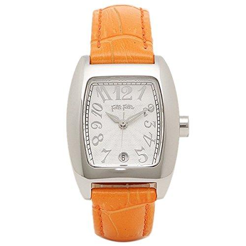 [フォリフォリ]Folli Follie レディース S922 Orange 24ミリ オレンジ レザー シルバーケース ホワイト文字盤 White/Orange 腕時計 [並行輸入品]