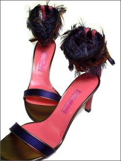 [BLUMARINE★ブルマリン/アンナモリナーリ]◎フォーマルサンダルパンプスサイズ-36アンクル バックジップ インポート 美脚パンプスレディース 靴#52S115