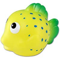 Puzzled Yellow Reef Fish Bath Buddy Squirter Yellow 3 Inch by Puzzled