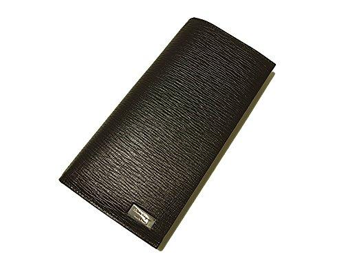 (フェラガモ) 長財布 メンズ ペブルカーフ 二つ折 (*黒に近い焦げ茶) SF-1910G [並行輸入品]