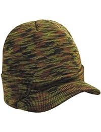 XWDA Peaked Armyビーニー帽子暖かいWooly冬Cadetスキーキャップ