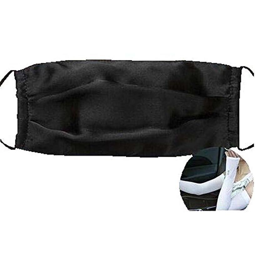 求人エクステント身元ファッションマスクダストマスクアンチ汚染シルクマスクとシルクアームスリーブ