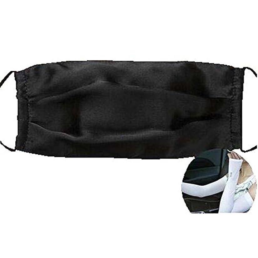 試み香ばしいページファッションマスクダストマスクアンチ汚染シルクマスクとシルクアームスリーブ