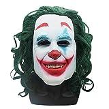 SUNKY ジョーカーマスク ハロウィーン コスプレ お面 マスク 仮面 被り物 天然ゴムラテックス製 リアル 怖いマスク 学院祭 パーティー クリスマス joker 仮装 なりきりマスク