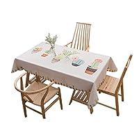 北欧文学スタイルテーブルクロス綿とリネン小フレッシュリビングルームコーヒーテーブル長方形のダイニングテーブルクロステーブルクロス (色 : A, サイズ : 140*200cm)