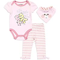 Happy Threads Baby Girls Care Bears The Snuggle is Real 3 Piece Pants Set